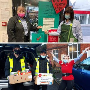 Waitrose Coulsdon and Yodel Mitcham deliver food and cheques