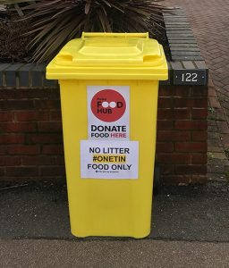 14 One Tin Bins now collecting for the Food Hub