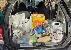 Donations loaded and delivered by the carload!
